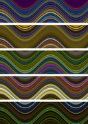 Wavy Design and Multicolored - stock illustration