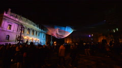 1.26 by Janet Echelmanlight installation at Signal Festival, Prague Stock Footage