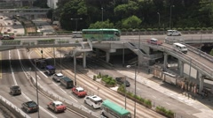 HONG KONG city centre busy traffic view. 4K resolution speed up. Flat profile Stock Footage