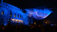 1.26 by Janet Echelmanlight installation at Signal Festival, Prague - stock footage