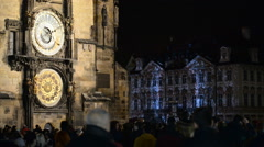 Signal Festival on the Old town square, Prague, Bohemia, Czech republic - stock footage