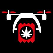 Cannabis Drone Delivery Icon Piirros