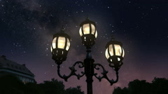 Town at night - stock footage
