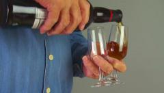 Male hands pour drinks Stock Footage