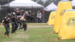 Break Out Paintball Stock Footage