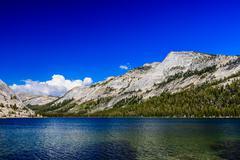 Tenaya Lake, Yosemite National Park, Sierra Nevada, USA - stock photo
