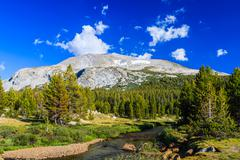 Tioga Pass, Yosemite National Park, Sierra Nevada, USA - stock photo