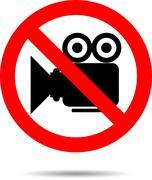 Ban video icon sign Stock Illustration