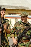 Russian army scene Stock Photos