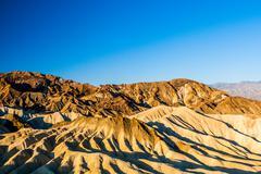 sunrise at Zabriskie Point, Death Valley National Park, USA - stock photo