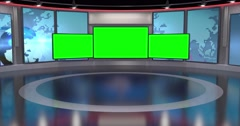 Contemporary News Studio 4K Stock Footage