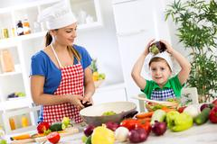 Cooking time healthy food - stock photo