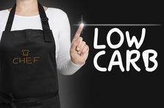 Low carb background cook operated touchscreen concept - stock photo