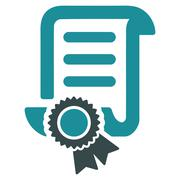 Certified Scroll Document Icon Stock Illustration