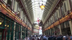 Leadenhall Market - London - stock footage