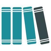 Library Books Icon Stock Illustration