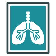 Lungs X-Ray Photo Icon - stock illustration