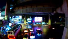 BANGKOK - March 2015: Bangkok's traffic, tilt shift time lapse. 4K resolution Stock Footage