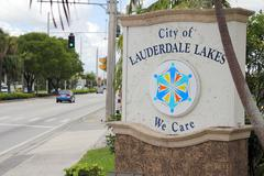 Stock Photo of City of Lauderdale Lakes Sign