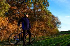 Cyclist Riding the Bike - stock photo
