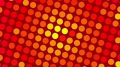 red abstract background and motion yellow circles, loop - stock footage