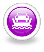 Icon, Button, Pictogram Vehicle Ferry - stock illustration