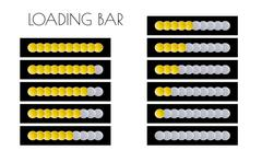 Gold loading bars Stock Illustration