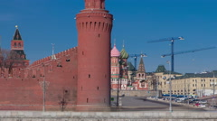 St. Basils cathedral timelapse hyperlapse in Moscow, Russia Stock Footage