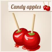 Detailed Icon. Candy apples Stock Illustration