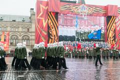 Parade on Red Square in Moscow Stock Photos