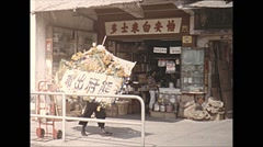 Vintage 16mm film, 1965, Hong Kong, streetlife Stock Footage