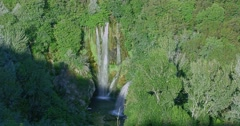 Manojlovac waterfall Krka river timelapse Stock Footage