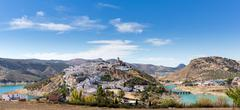 Hilltop town of Iznajar in Andalucia - stock photo