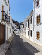 White painted hill town of Zuheros in Andalucia - stock photo