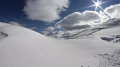 Stock Video Footage of Timelapse - Long shot of a ski lift on a sunny day