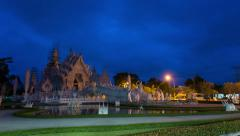 Wat Rong Khun the most famous temple in Chiang Rai ,Thailand Stock Footage