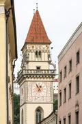 Historic Town Hall Tower of Passau Stock Photos