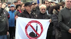 Demonstration against Islam in Brno Stock Footage