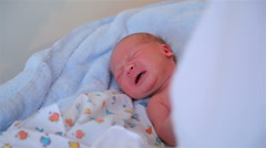Just as the boy born Stock Footage