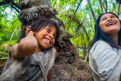 Kogi people, indigenous ethnic group, Colombia - stock photo