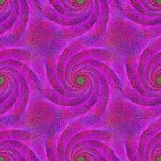 Pink seamless wired fractal spiral design background - stock illustration