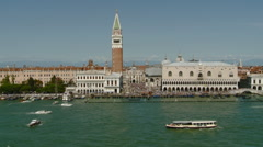Venice, Italy -  Wide View of San Marco on the Grand Canal Stock Footage