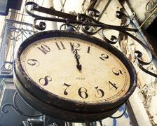 Stock Photo of vintage street clock