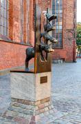 Riga. The Bremen Town Musicians - stock photo