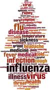Stock Illustration of Influenza word cloud