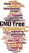 Stock Illustration of GMO free word cloud