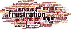 Frustration word cloud - stock illustration