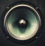 Woofer Speaker Closeup - stock photo
