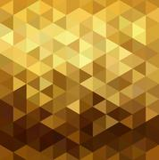 Stock Illustration of Gold pattern low poly triangle geometry fancy