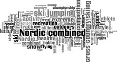Nordic combined word cloud Stock Illustration